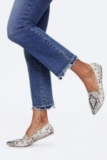 PRE ORDER NYDJ Marilyn Ankle Jeans with Frayed Hem - ALTON CHEW HEM - Detail