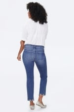 PRE ORDER NYDJ Marilyn Ankle Jeans with Frayed Hem - ALTON CHEW HEM - Back