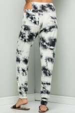Casual Tie Dye Pants - Ivory - Back