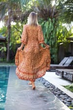 Pre-Order Amber Peasant Dress - Amber - Back