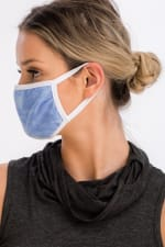 Pre-Order Sky Tie Dye Fashion Face Mask - Blue - Front