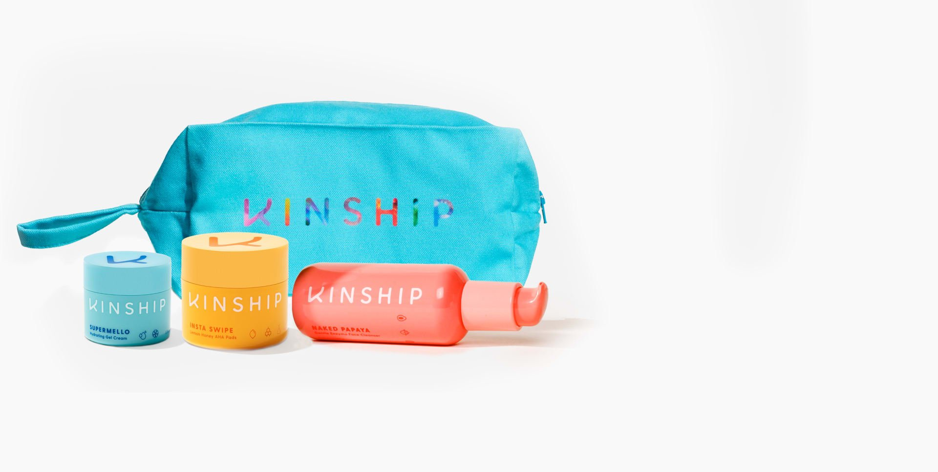 Supermello, Insta Swipe, Naked Papaya and Dopp Kit | Kinship