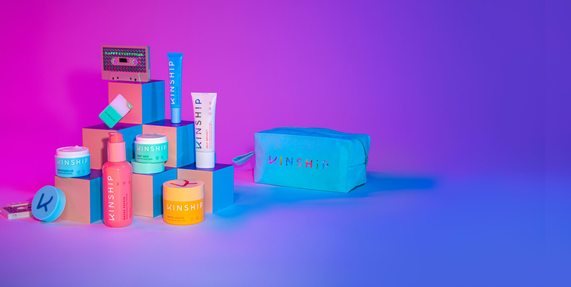Happy Everything, 6-piece skincare set + dopp kit