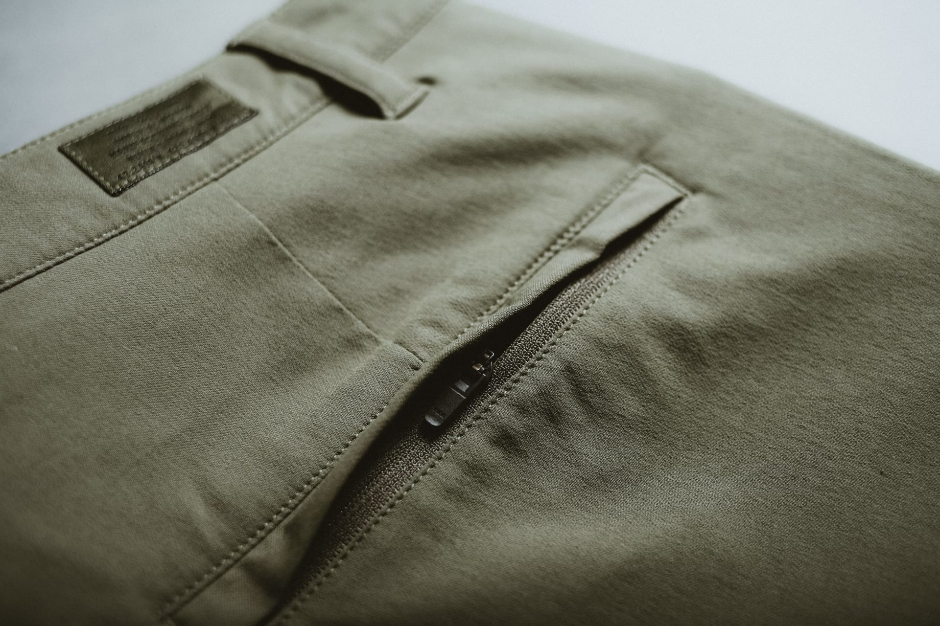 YKK Zippered Secure Back Pocket