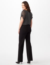 Secret Agent Pull On Tummy Control Pants - Short Length - Misses - Black - Back