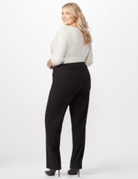Secret Agent Pull On Tummy Control Pants - Short Length - Plus - Black - Back