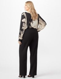 Secret Agent Pull On Tummy Control Pants - Tall Length - Plus - Black - Back