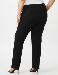 Pre Order Secret Agent Tummy Control Pants Cateye Rivets - Average Length - Black - Back