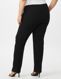 Secret Agent Tummy Control Pants Cateye Rivets - Average Length - Black - Back