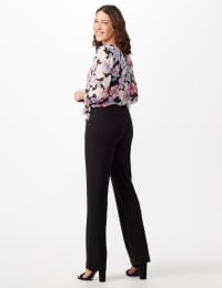 Secret Agent Tummy Control Pants Cateye Rivet - Short Length - Misses - Black - Back
