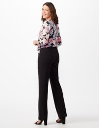Secret Agent Tummy Control Pants Cateye Rivet - Short Length - Black - Back