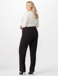 Secret Agent Tummy Control Pants Cateye Rivet - Short Length - Plus - Black - Back