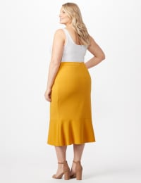 Flounce Skirt Plus - Gold - Back