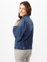 Long Sleeve Denim Jacket - Blue Wash - Back
