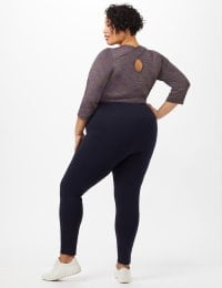 Tummy Control Leggings - Navy - Back