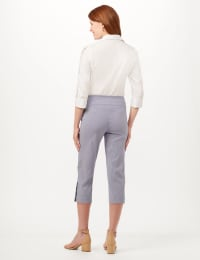 Striped Pull-On Crop Pants - Blue/White - Back