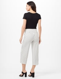 Stripe Sailor Crop Pants - Ivory/Black - Back