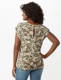 Camouflage Knit Tee - Olive - Back