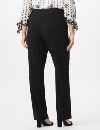 Pre-Order Secret Agent Trouser with Cateye Pockets & Zipper- Short Length - Black - Back