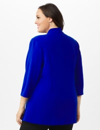 Collar - Less Notched Topper With Buttons Side Tabs - Blue Ensign - Back