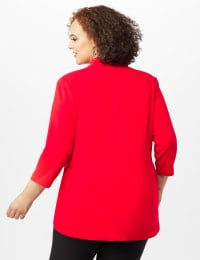 Pre-Order Collar - Less Notched Topper With Buttons Side Tabs - Infared - Back