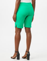 Pull on Shorts with Dome Rivet Trim - Green - Back