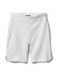 Pull on Shorts with Dome Rivet Trim - White - Back
