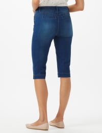 Goddess Fit Mid Rise Pedal Pusher Skinny - Medium Stone Wash - Back