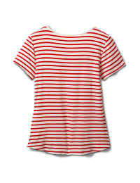 """America The Beautiful"" Stripe Rib Tee - Red - Back"