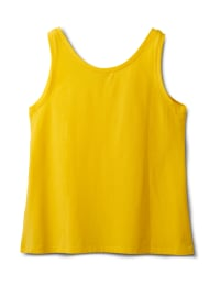 Studded Knit Tank - Gold - Back