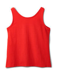 Studded Knit Tank - Red - Back