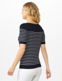 Stripe Sweater - Nightlife/ White - Back