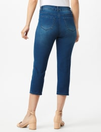 5 Pocket Skinny Crop Jean - Medium Dark Wash - Back