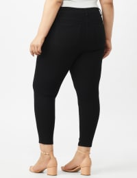 5 Pocket Skinny Ankle Length Jeans - Black - Back