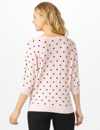 Dot Sweater - Equator Pink/ Black - Back