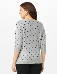 Dot Sweater - Mist Grey Heather/ Black - Back