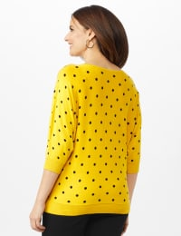 Dot Sweater - Ray/ Black - Back