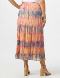 Pull On Crinkle Skirt - Misses - Indigo/ Coral - Back