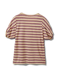 Rib Stripe Thermal Tee - Banana - Back