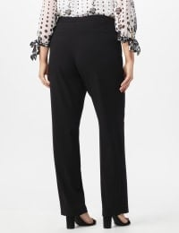 Pre Order Secret Agent Pants with Cat Eye Pockets & Zip - Black - Back
