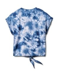 """Dream"" Tie Dye Tie Front Top - Blue - Back"