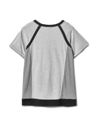 Color Block Knit Top - Grey/Black - Back
