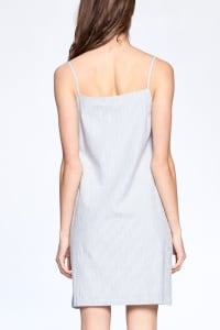 Everyday Night Dress - Blue / Ivory - Back