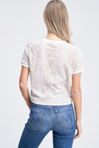 Leopard Print Everyday Tee - Beige - Back