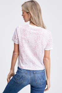 Leopard Print Everyday Tee - Mauve - Back