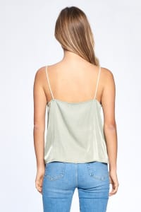 Silky Essential Tank - Sage - Back