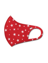PRE ORDER Star Anti-Bacterial Fashion Face Mask - Red/White - Back