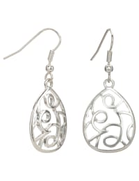 Simple Silver Trio Earring Set - Silver - Back