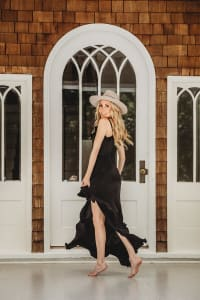 Pre Order Juliette Dress in Black - Black - Back