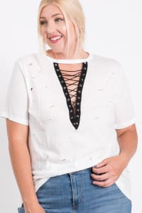 Casual Shirt With a Twist - White - Back